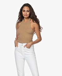 extreme cashmere  N°160 Wies Lurex Halter Neck Top - Gold