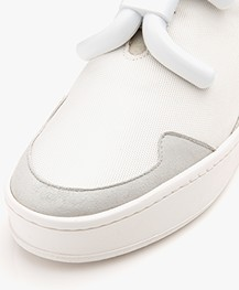 An Hour And A Shower Knot Camp Slip-on Sneakers - Wit/Grijs/Beige