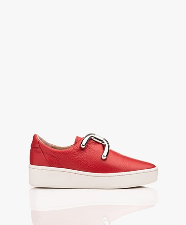 An Hour And A Shower Knot Platform Slip-on Sneakers - Rood