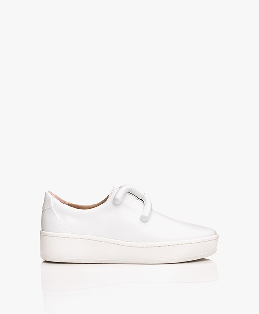 An Hour And A Shower Knot Platform Slip-on Sneakers - Wit