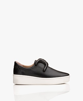 An Hour And A Shower Knot Platform Slip-on Sneakers - Black