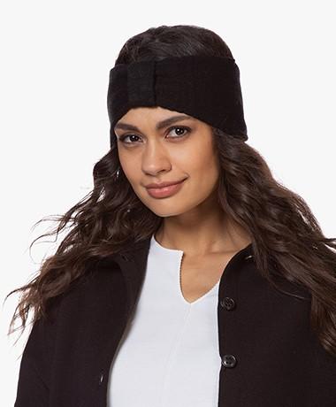 Resort Finest Cashmere Wolmix Haarband - Zwart