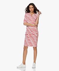 JapanTKY Tate Travel Jersey Zebra Printed Pencil Dress - Japanese Red