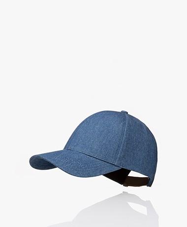 Varsity Headwear Denim Katoenen Pet - Washed Blue