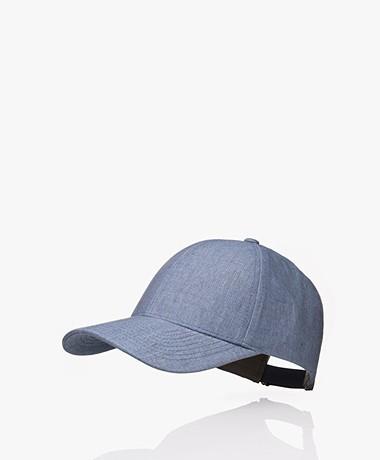 Varsity Headwear Linnen Pet - Steel Blue