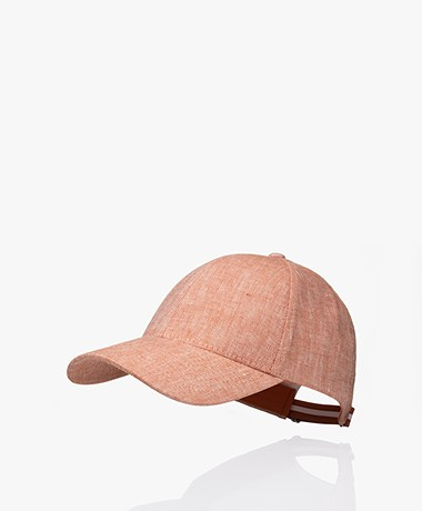 Varsity Headwear Linen Cap - Pale Rust