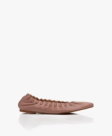 See by Chloé Jane Leather Ballet Flats - Dark Pink