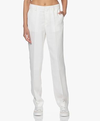 Filippa K Joyce Viscose Blend Pants - White Chalk