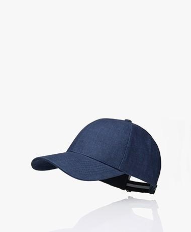 Varsity Headwear Linnen Pet - Oxford Blue