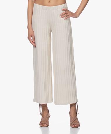 by-bar Poppy Knitted Wide-leg Pants - Linen