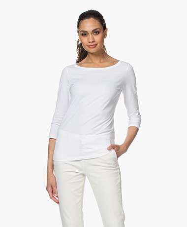 Majestic Filatures Deluxe Cotton 3/4 Sleeve T-shirt - White