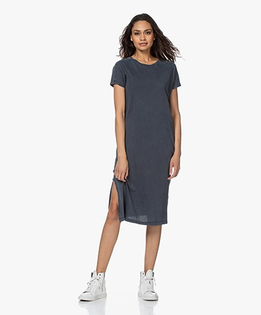 American Vintage Decatur Garment-dyed Jersey Dress - Vintage Darkness