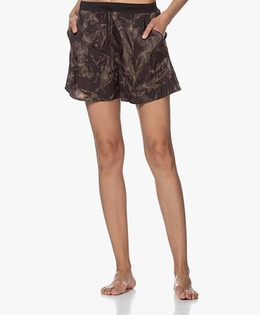Filippa K Soft Sport Tie Dye Shorts - Brown/Grey/Off-black