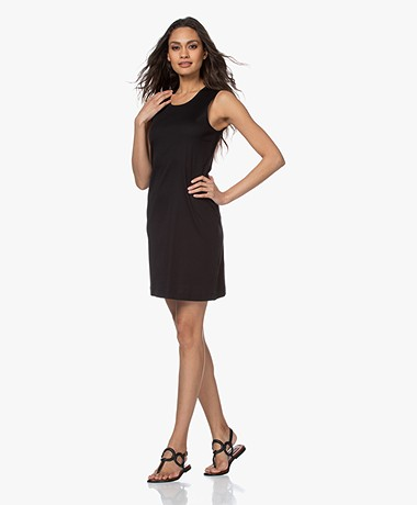 Filippa K Adelaide Cotton Jersey Tank Dress - Black
