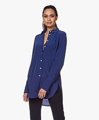 By Malene Birger Cologne Zijden Blouse - Ultramarine