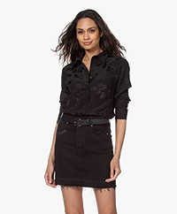 Zadig & Voltaire Thelm Silk Jacquard Paisley Bouse - Black