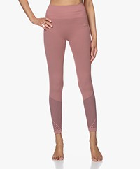 Filippa K Soft Sport Striped Seamless Leggings - Anemone/Mauve