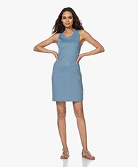 Filippa K Adelaide Cotton Jersey Tank Dress - Blue Heaven