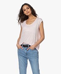 Closed Linnen Jersey T-shirt - Soft Pink