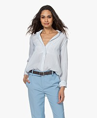 By Malene Birger Cologne Silk Blend Shirt - Pacific Blue