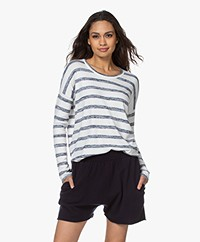 Rag & Bone The Knit Striped Sweater - White/Navy