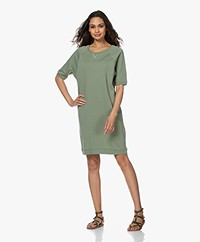 by-bar Lena French Terry Sweater Dress - Olive