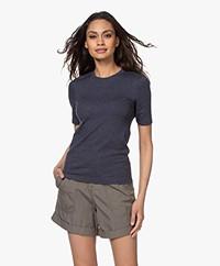 Rag & Bone The Rib Modal Blend T-shirt - Heather Navy