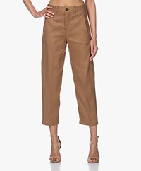 Closed Ludwig Lyocell-Linnen Pantalon - Golden Oak