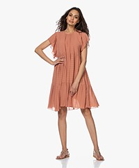 Vanessa Bruno Newel A-line Crepe Dress - Blush