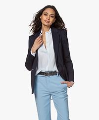 Drykorn Atlin Ponte Jersey Blazer - Dark Blue
