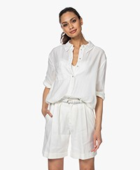 ba&sh Twister Cotton Shirt - Off-white
