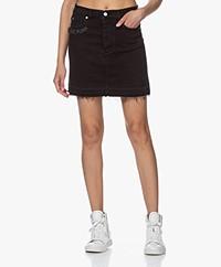 Zadig & Voltaire Juicy Denim Skirt - Black