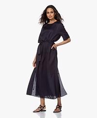 Filippa K Rosie Lyocell Blend Maxi Dress - Deep Blue
