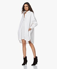 ANINE BING Aubrey Oversized Shirt Dress - White