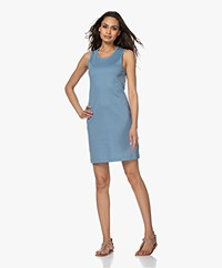 Filippa K Adelaide Cotton Jersey Tank Dress - Blue Heaven