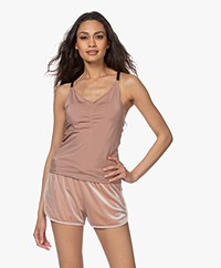 Filippa K Soft Sport Gathered Microfiber Top - Tan