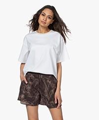 Filippa K Janelle Bio-katoenen Boyfriend T-shirt - Wit