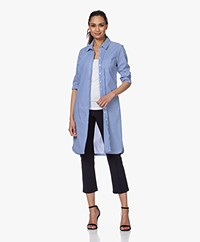 Belluna Bruno Striped Shirt Dress - Blue/White