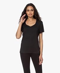 Calvin Klein Modal V-hals Lounge T-shirt - Zwart