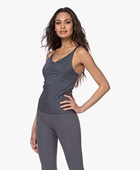 Filippa K Soft Sport Gathered Microfiber Top - Metal