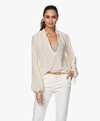 By Malene Birger Chestnutt Zijden Blouse - Angora
