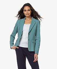 Drykorn Boulder Ponte Jersey Blazer - Greyish Blue