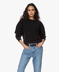 ANINE BING Reed French Terry Sweatshirt - Black
