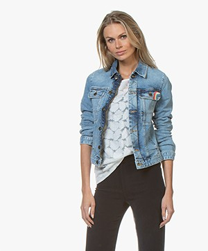 Zadig & Voltaire Kioky Love Denim Jacket - Blue