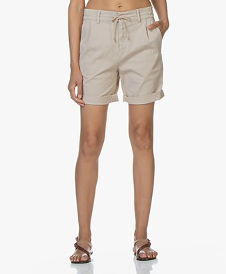 Drykorn Trainee Cotton Blend Shorts - Beige