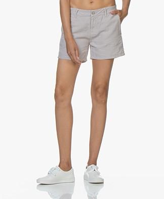 BRAEZ Linen Blend Shorts - Platin