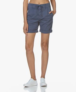 Drykorn Trainee Cotton Blend Shorts - Blue