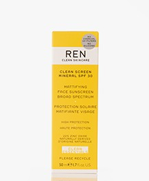 REN Clean Skincare Clean Screen Mineral SPF 30 Face Sunscreen