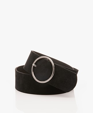 IRO Osva Suede Belt - Black