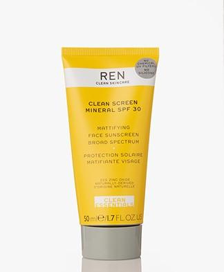 REN Clean Skincare Clean Screen Mineral SPF 30 Face Sunscreen